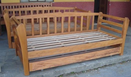 Cam 06 cama bicama sofa m veis r sticos s o jos for Sofas cama de 90 de ancho