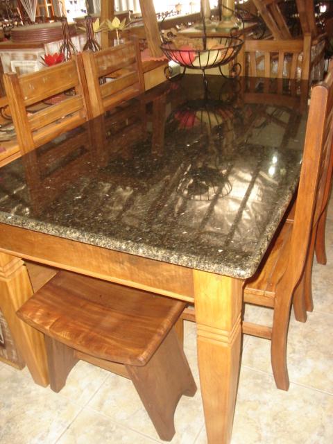 Mesa com 6 cadeiras vendo mesa com 6 cadeiras com pedra de - Mesa de granito ...