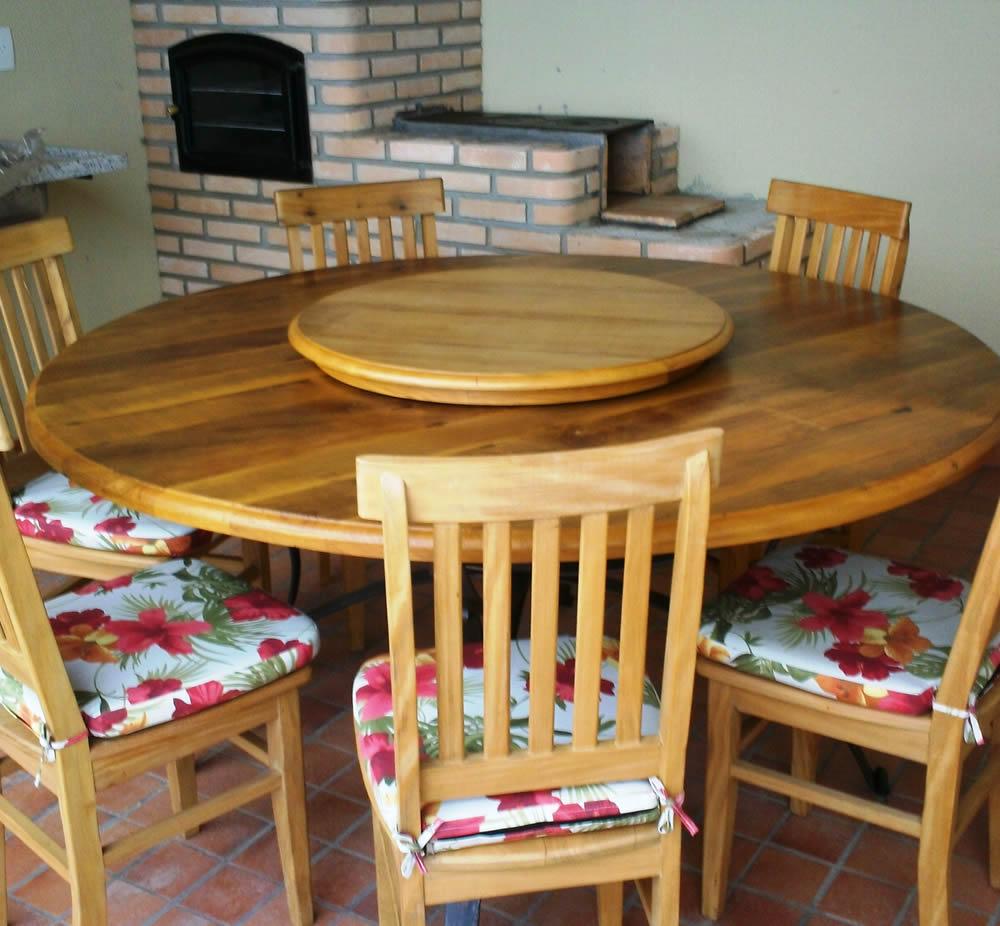 Mesj 45 mesa de jantar com tampo giratorio m veis for Modelos de mesas cuadradas